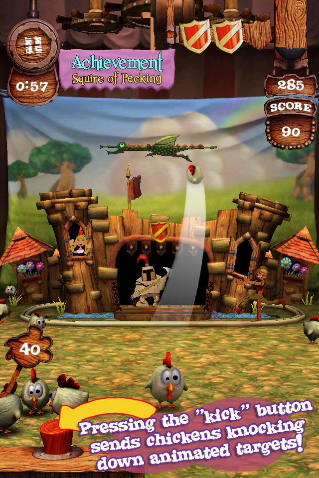 Screenshot Kick'n Chick'nz: Medieval Karnival Lite